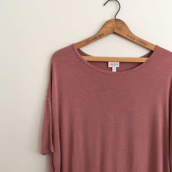 LuLaRoe Tops - EUC Mauve Blush Pink Lularoe Irma Tunic Solid Rose